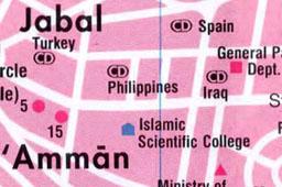 Карта Аммана Иордания