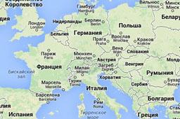 Карты железных дорог стран Европы
