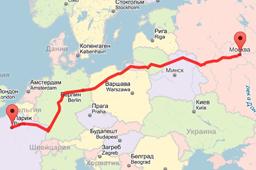 Как определить расстояние между городами