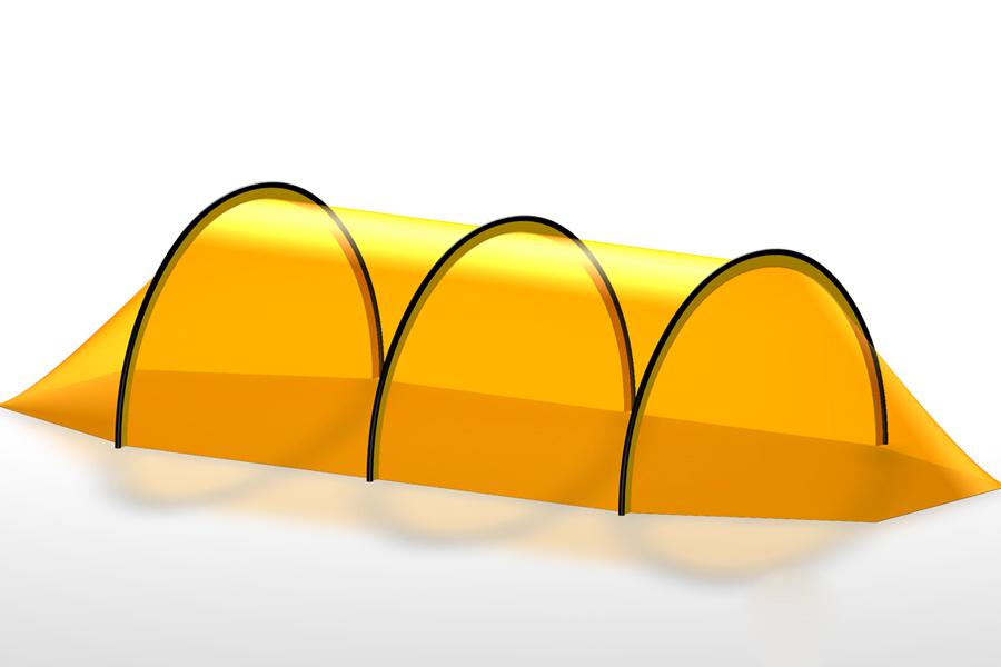 Формы палаток – полубочка (кибитка)