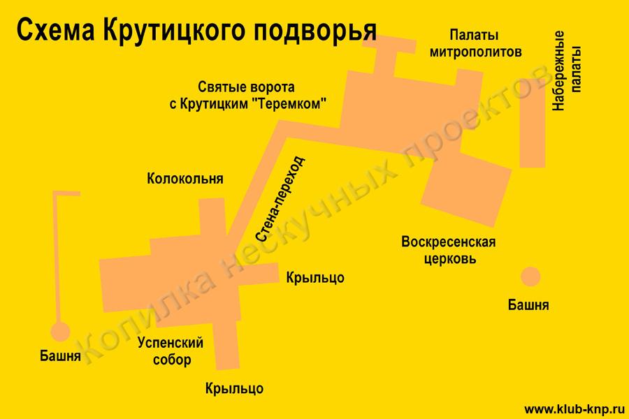 Схема Крутицкого подворья