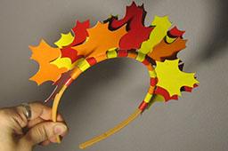 Ободок из листьев на праздник осени