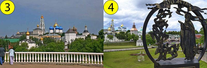 Вид с Блинной горы и памятник Сергию Радонежскому, который находится около смотровой площадки.