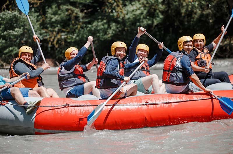 Сплав на реке Мзымта.
