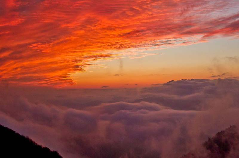 Закат в горах!