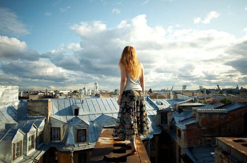 На крышах Петербурга.
